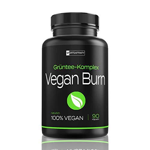 Vegan Burn [Beliebt in der Diät] - Hochdosiert von Experten für Frauen und Männer » mit L-Carnitin, Grüntee Extrakt « F-Burn/Burner Tabletten/Pillen - Inkl. E-Book zum Abnehmen - 90 Kapseln