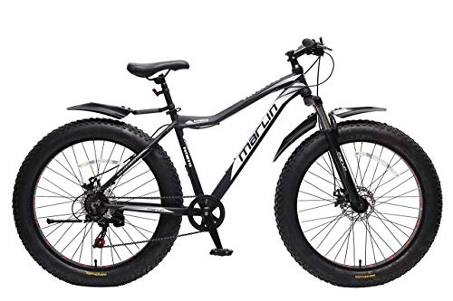Marlin Fat Boy 4.0 Black-White Aluminium Alloy Fatbike with Front Suspension
