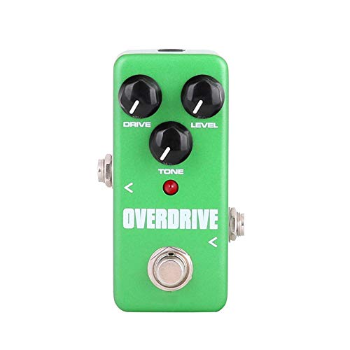 Rawall Guitar Effect Pedal Mini Overdrive Boost Pedal Portable Guitar Effect Pedal True Bypass Full Metal Shell (Color : Green, Size : Free size)