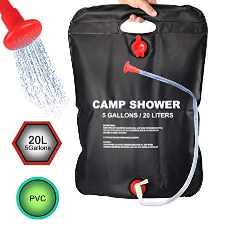 DOTSOG Portable Outdoor Solar Shower Bag Camp Shower Bag 5...