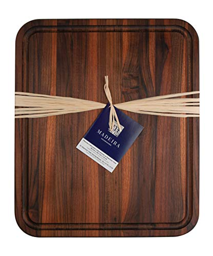 Madeira M-05C Teak XL Carving and Cutting Board, 15 x 17.75-Inches, Espresso