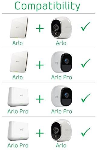 41QURo+Pa1L [Bon plan Arlo ] Caméra de surveillance Wifi Sans fils, Pack de 1 HD Jour/Nuit, Etanche IP65, Intérieur/Extérieur, Fixation A...