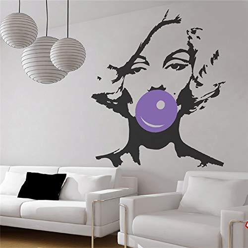 ASFGA Bolla Che soffia Marilyn Monroe Adesivo da Parete in Vinile Poster Adesivo Soggiorno Camera da...