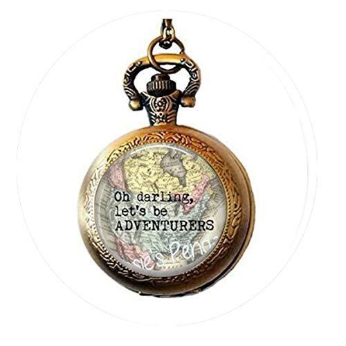 Oh Darling, Let's be Adventurers avec breloque boussole en option –...