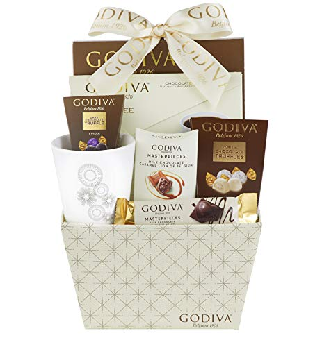 Godiva Truffles, Coffee and Chocolate Hot Cocoa Gift Basket...