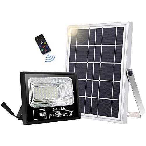 Faretto solare da esterno con 49 LED ad alta luminosit, 6000 mAh, con pannello solare, luce controllata, IP66, impermeabile, lampada solare da esterno per giardino