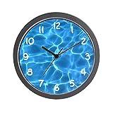 YiiHaanBuy Aqua Blue Swimming Pool - Unique Decorative 12in Wall Clock.