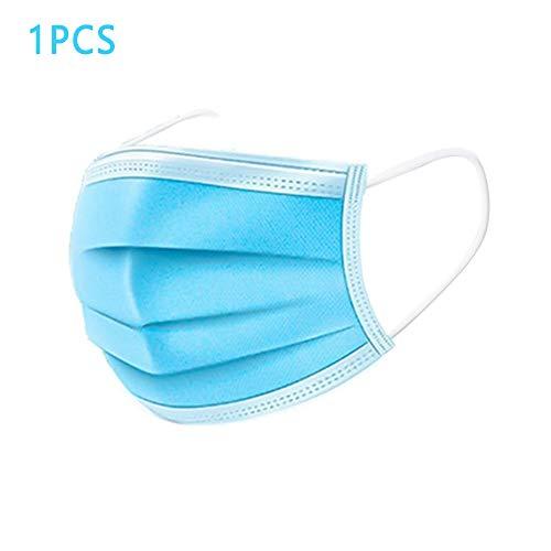 SHENGNONG 2020 Maschere per uomini e donne Maschera monouso per bocca 3 strati Filtro antipolvere non tessuto Coprirosso Maschere monouso per orecchio