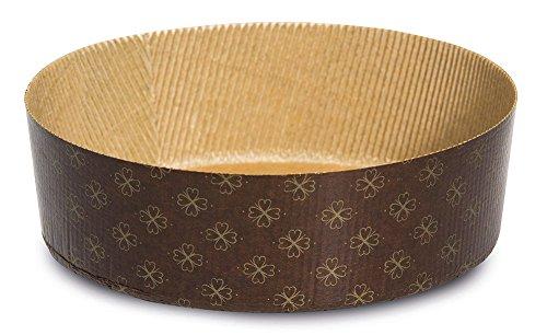 Guardini, Monouso, 3 Moldes bajos para pan Dulce Ø 19cm (capacidad de hasta 750gr. de masa). Material: Papel de Horno, Color Beige.