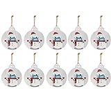 ETEBAS 10PCS 2020 Weihnachtsschmuck Der Weihnachtsmann mit Maske schmichten den Weihnachtsbaum