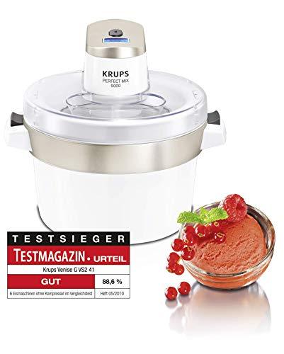 Krups GVS241 Perfect Mix 9000 Eismaschine, 1,6 L Fassungsvermögen, Digitalanzeige mit automatischer Abschaltung