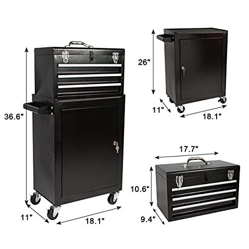 Product Image 2: 3 Drawer Mini Mechanic Tool Box Rolling Garage <a href=