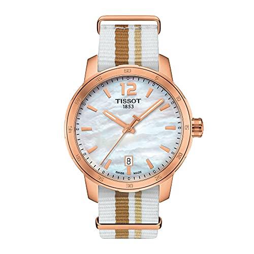 Tissot Damen Analog Quarz Uhr mit Nylon Armband T095.410.37.117.00