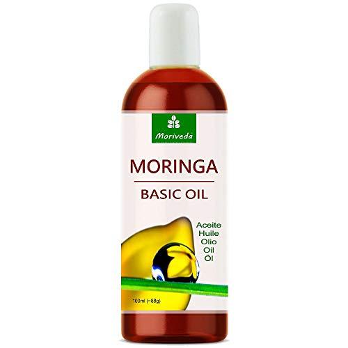 Olio di Moringa Basic 100ml di MoriVeda, pressato dai semi e dai baccelli di Oleifera, adatto per la cura della pelle, la cura dei capelli, la cura delle ferite, l'anti-invecchiamento