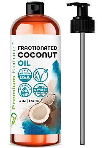 Fractionated Coconut Oil Massage Oil - Cold Pressed Pure MCT...