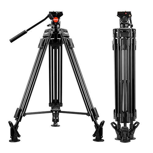 Trípode para Vídeo - ESDDI VT-60 64 inch/163 cm Trípode profesional de aluminio para trabajo...