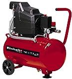 Einhell 4007325 Compressor TC-AC 190/24/8 (Maximum 8 bar, 24 Litre Tank, Oil Lubrication, Pressure Reducer, Pressure Gauge + Quick-Release Coupling, Non-Return/Safety Valve, Rubber Foot)