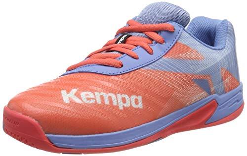 Kempa Unisex-Kinder Wing 2.0 JUNIOR Handballschuhe, Grau (Corail/Gris Lilas 02), 35 EU