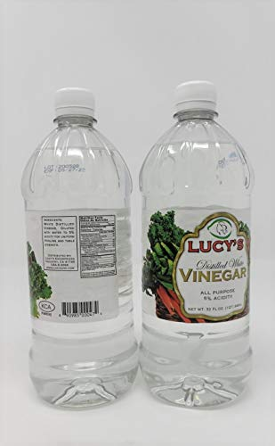 All purpose Distilled White Vinegar 2 bottles (32 oz per bottle) Lucys