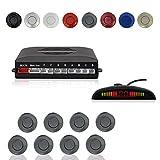 Voiture Système Radar de Recul, Cocar Buzzer Radar Parking Kit LED Écran avec...