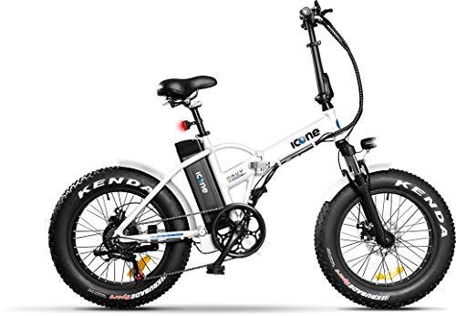 Icon.e Bici Elettrica Pieghevole Navy 250W White Giovent Unisex, Bianca, no size