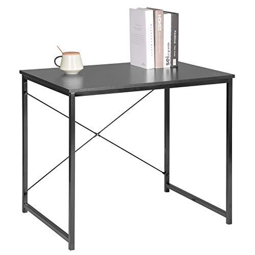 WOLTU Scrivania Computer Tavolo PC Scaffale Moderno in Acciaio Legno per Ufficio Lavoro Studio...