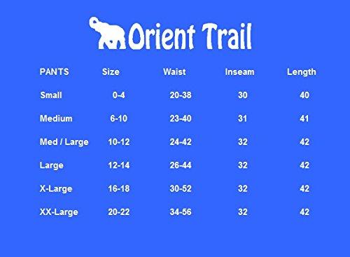 Orient Trail Women's Hippie Bohemian Boho Yoga Wide Leg Harem Pants X-Large Solid Black 5