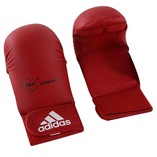 Adidas - Guanti da Karate-Kumite/Fit-Boxe Rosso Omologati Wkf (S)