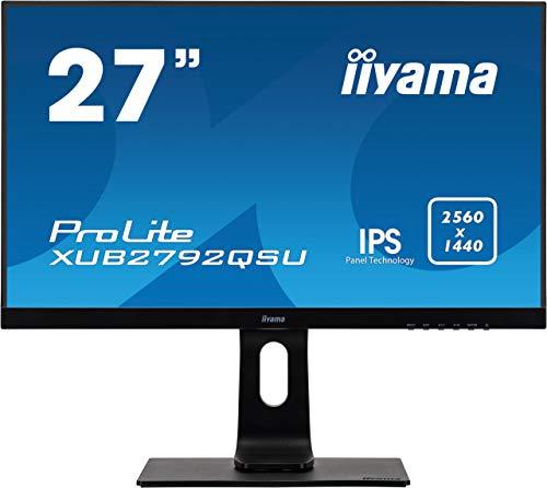 "iiyama Prolite XUB2792QSU-B1 68,5cm (27"") IPS LED-Monitor QHD (DVI, HDMI, DisplayPort, USB3.0) Ultra-Slim-Line, FreeSync, Höhenverstellung, Pivot, schwarz"