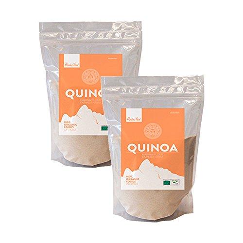 Harina de Quinoa ecologica organica 1kg, pack 2 bolsas de 500g