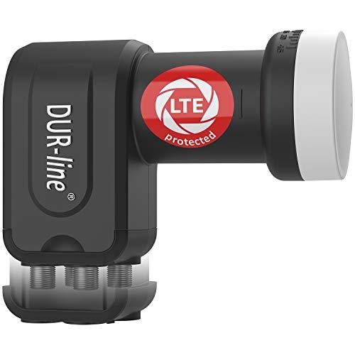 DUR-line +Ultra Quad LNB - 4 Teilnehmer schwarz - mit...