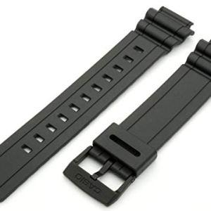 Genuine Casio Black Resin 18mm Watch Strap