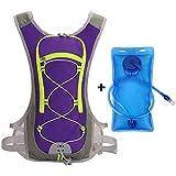 WANGIRL Mochila Mochila De Hidratación con 2L BPA Bladder Mochila Impermeable para Hombres Mujeres Deportes Al Aire Libre Equitación Viajes Camping Senderismo Mochila Mochila Viaje (Color : Purple)