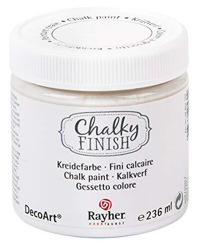 Rayher vernice a gesso Chalky Finish, 236 ml bianco a base dacqua vintage shabby chic decorazioni...
