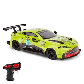 CMJ RC Cars™ Aston Martin GTE Vantage Officially Licensed Remote Control Car. 1:24 Scale Green