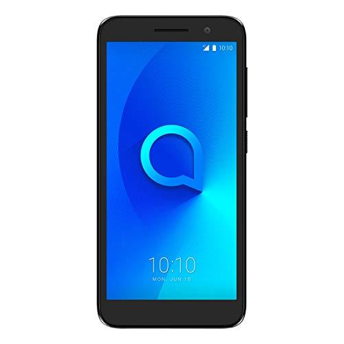 Alcatel 5033D 1 2019, Smartphone - Pantalla 5' - Cámara trasera 5MP y frontal (selfie) 2MP - Memoria 8GB ROM + 1 RAM - Negro [Versión ES/PT]