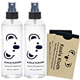 Koala Kleaner Alcohol Free Eyeglass Lens Cleaner Spray Care Kit   Proudly USA Made   Ultra Gentle, Highly Effective, and 100% Safe for Cleaning All Lenses and Screens, 16oz + 2 Cloths