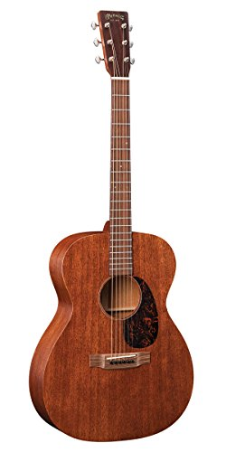 Martin Guitar 000-15M with Gig Bag, Acoustic Guitar for the Working Musician, Mahogany Construction, Satin Finish, 000-14 Fret, and Low Oval Neck Shape