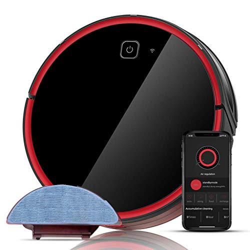 HANDHELD VACUUMS Robot Aspirapolvere, Aspirapolvere Potente 1800Pa, Connessione Wi-Fi Lavasciuga 3...