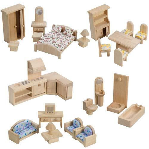 PlanToys Classic Dollhouse Furniture Set