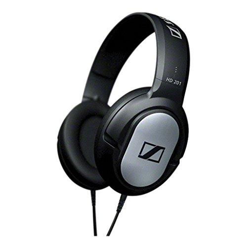 Sennheiser HD 201 Cuffie Circumaurale Dinamica Over-Ear Stereo, Modello Chiuso, Nera con rifiniture Silver, cavo 3mt