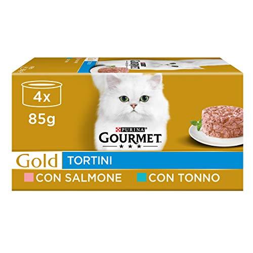 Purina Gourmet Gold Umido Gato Tortini con salmón para Gato