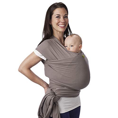 Boba Wrap Grey Fascia Elastica Porta Beb Neonato, Portabimbo Facile dalla nascita a 15kg