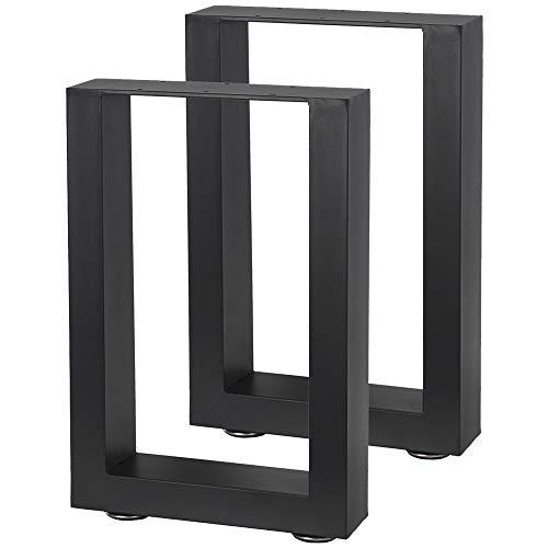 2 Tischbeine Tischgestell Kufengestell Tischuntergestell V2Aox Größenauswahl, Größe:30 x 43 cm