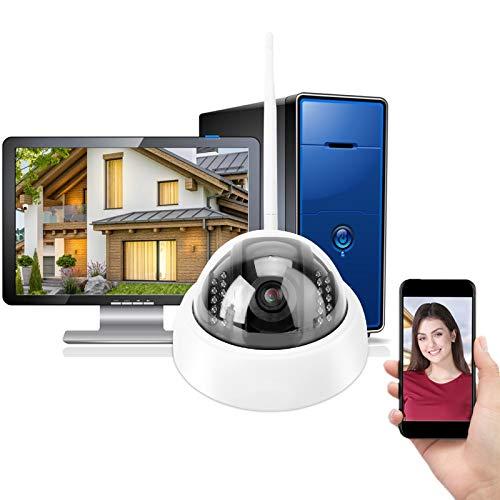 Telecamera IP di sicurezza senza fili, 960 P HD WiFi Telecamera a infrarossi di visione notturna Rilevazione del movimento con POE telecamera a cupola impermeabile per interni ed esterni(UE)