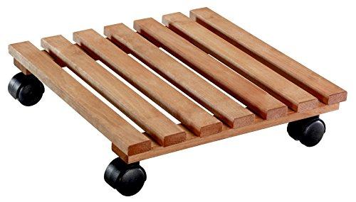 WAGNER Pflanzenroller - NATURE - Erle, FSC, terracotta geölt, 35 x 35 x 8,2 cm, Tragkraft 100 kg - 20083501