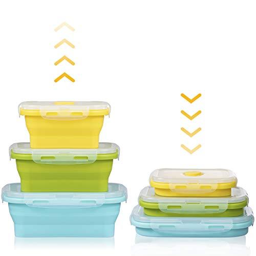 Czemo Boîte à Lunch Pliante en Silicone Rétractable Récipients...