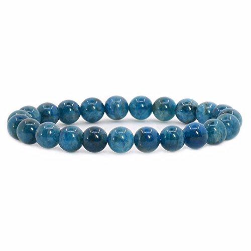 Natural Apatite Rock Crystal Gemstone 8mm Round Beads...