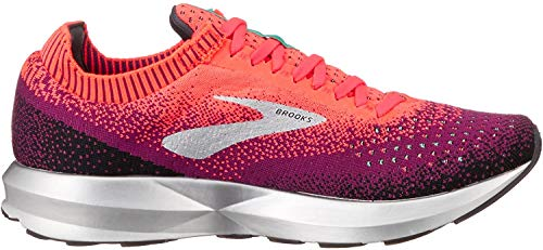 Brooks Women's Levitate 2 Running Shoes, Multicolour (Pink/Black/Aqua 678), 8 UK
