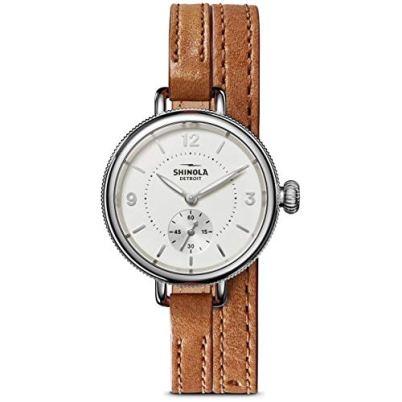 Shinola The Birdy Quartz Movement White Dial Ladies Watch S0120141496